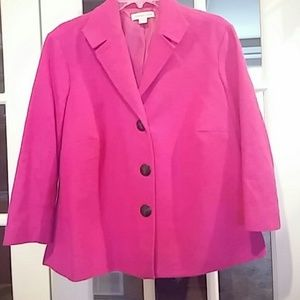 Coldwater bright pink lined jacket EUC16